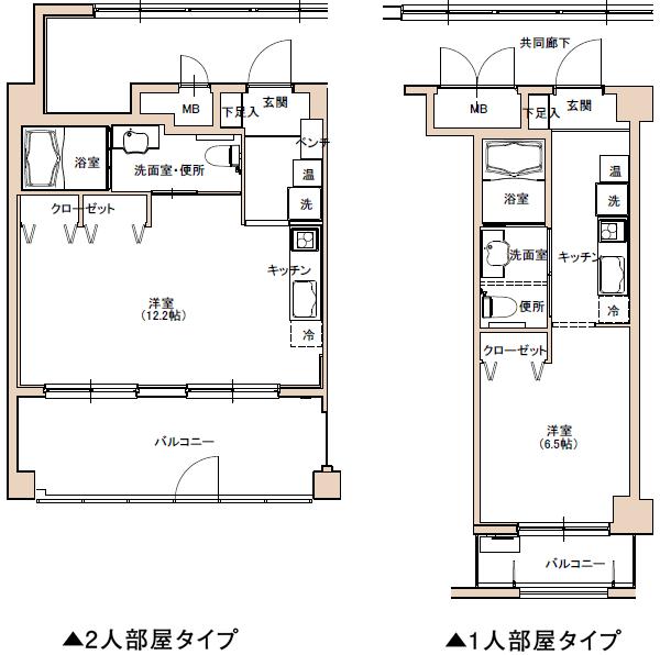 各階の共用廊下は、屋内様式なので、豪雨、強風、真冬、真夏などの日でも安全で快適です。
